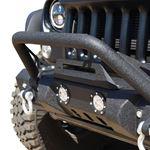 Jeep JK Front Bumper w LED Lights 078 Wrangler JK Steel Mid Length Stubby W Winch Plate 1