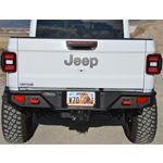 Gladiator Full Rear Bumper For 20Pres Jeep Gladiator No Tire Carrier Rigid Series 1