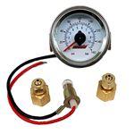 Dual Needle 160 Psi PanelMount Illuminated Pressure Gauge 1023 1