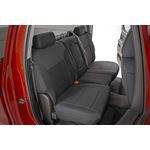 Neoprene Front and Rear Seat Covers Black 1418 SilveradoSierra 1500 1