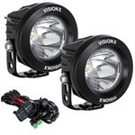 Optimus Round Black 1 10w Led 10 Degree Narrow 2 Light Kit 1