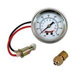 Single Needle 160 Psi PanelMount Illuminated Pressure Gauge 1022 1