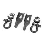 Ford Tow Hook to Shackle Conversion Kit w/D-Ring & Rubber Isolators 09-20 F-150 Rough Country 1