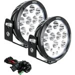 Pair Of 87 Cannon Adventure Halo 14 Led Light Mixed Beam Including Harness 1