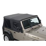 Replacement Soft Top Without Upper Doors  Black Diamond  TJ 1