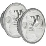 Kit Of Two Polished Chrome Face 575 Round Vx Led Headlight W Low-High-Halo 1