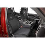 Neoprene Front and Rear Seat Covers Black 1418 SilveradoSierra 1500 3