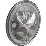Single 7 Round Vx Black Chrome Face Led Headlight W Low-High-Halo 1