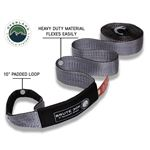 Tow Strap 30000 lb 3 x 30 Gray With Black Ends and Storage Bag 3