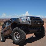 0515 Toyota Tacoma APEX Aluminum Front Bumper with LED Hoop Black Powdercoat 1
