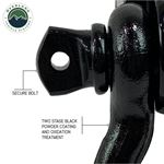 Receiver Mount Recovery Shackle 34 475 Ton With Dual Hole Black and Pin and Clip 3
