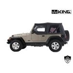Replacement Soft Top With Tinted Upper Doors  Black Diamond  TJ 3