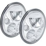 Pair Of 7 Round Vx Led Headlight W Low-High-Halo 1