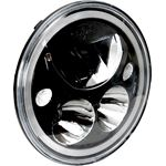 Single Black Chrome Face 575 Round Vx Led Headlight W Low-High-Halo 1