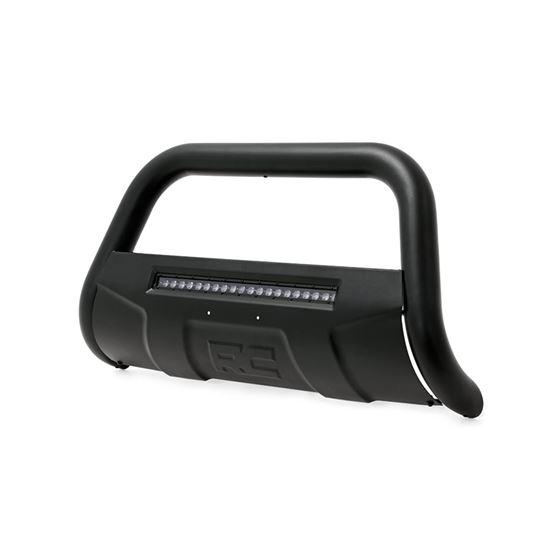 1119 SilveradoSierra 2500HD3500HD Bull Bar wLED Light Bar Black 1