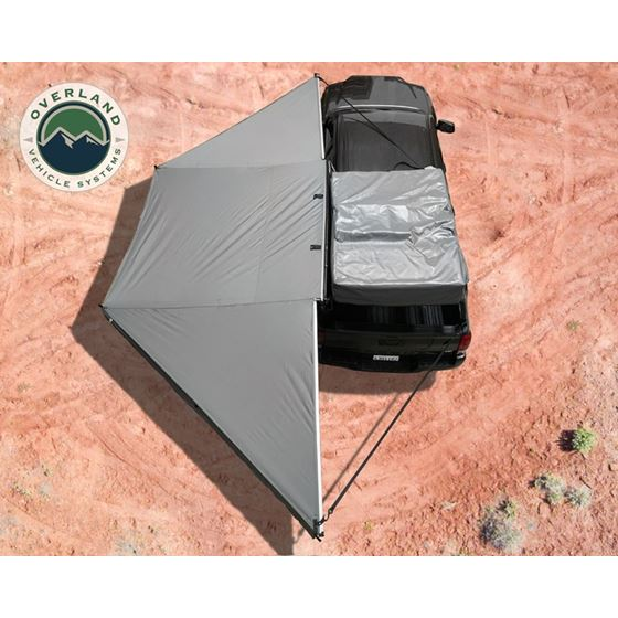 Nomadic Awning 180  Dark Gray Cover With Black Transit Cover and Brackets 1