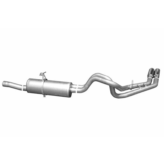 Cat Back Dual Sport Exhaust System Aluminized 1