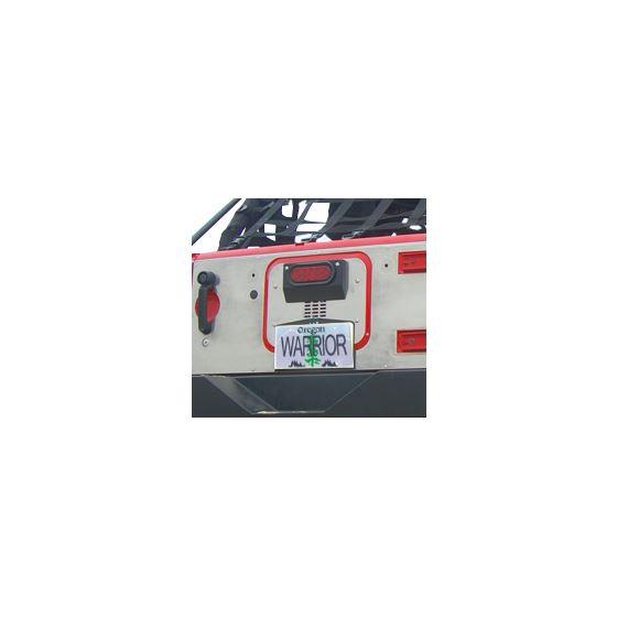 Jeep JK/JKU HD Aluminum Tailgate Cover Inner 5922 1