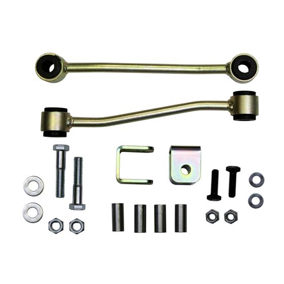 Sway Bar Extended End Links Front Lift Height 4 Inch Black Rubber Bushings 9706 Jeep Wrangler 9706 J