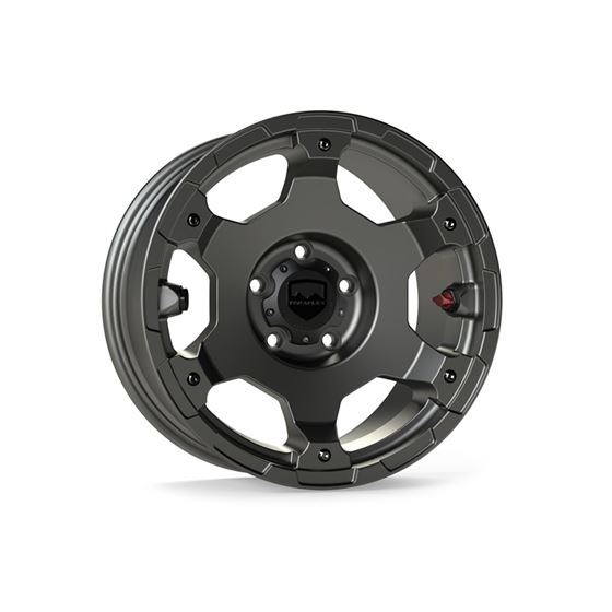 17 Inch Nomad Off Road Wheel 5x5 Bolt Pattern 18+ Wrangler  JL/JK 2/4 Door Titanium Gray Base Each-1