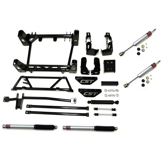 01 10 2500HD P U 01 13 2500 SUV 2WD 4WD 6 8in Lift Kit with four shocks Stage 2 1