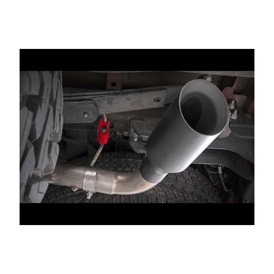 Dual CatBack Exhaust System wBlack Tips 1418 SilveradoSierra 1500 53L 1
