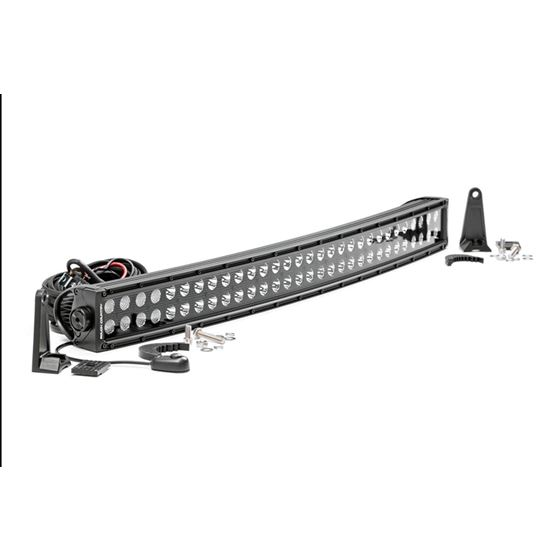 30 Inch Curved CREE LED Light Bar Dual Row Black Series 1