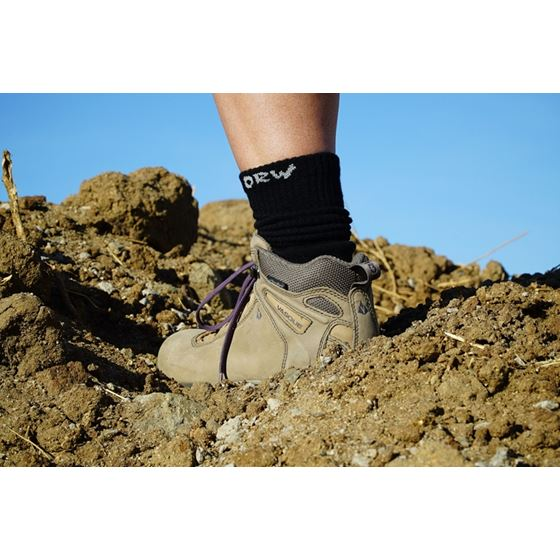 ORW Off Road Bamboo Socks Pair Black MD