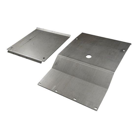 9504 Toyota Tacoma Steel IFS and Transmission Skid Plate Set Black Powdercoat 1