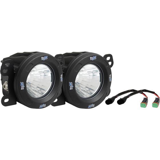 07-09 Jeep Jk Fog Light Upgrade Kit With Optimus 20 Degree Led Lights 1