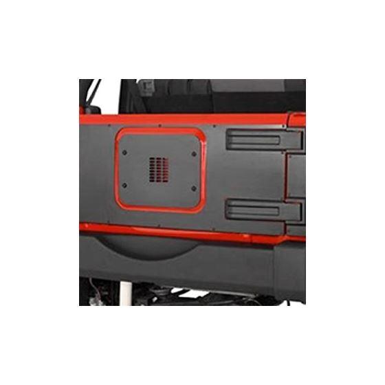 Jeep JK/JKU Inner Tailgate Cover for Warrior LED 3rd Brake Light 1