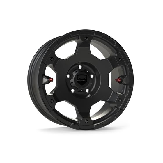 17 Inch Nomad Off Road Wheel 5x5 Bolt Pattern 2/4 Door Metallic Black Deluxe Each-1
