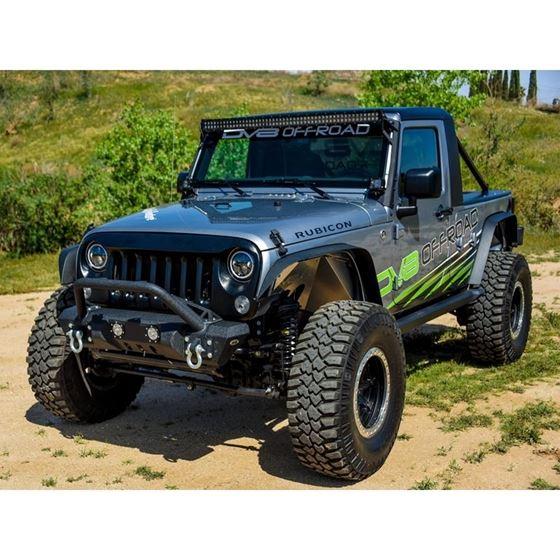 Jeep JK Front Bumper w LED Lights 078 Wrangler JK Steel Mid Length Stubby W Winch Plate 3