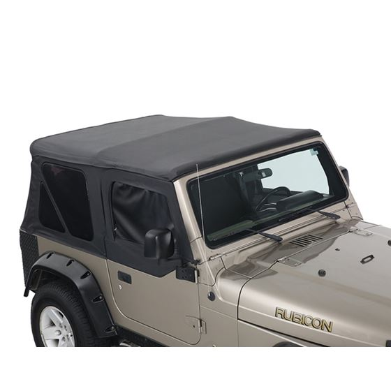 Replacement Soft Top With Tinted Upper Doors  Black Diamond  TJ 1
