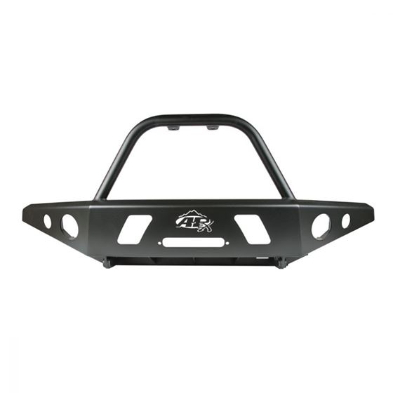 9504 Toyota Tacoma APEX Front Bumper with Center Hoop Black Powdercoat Steel 1
