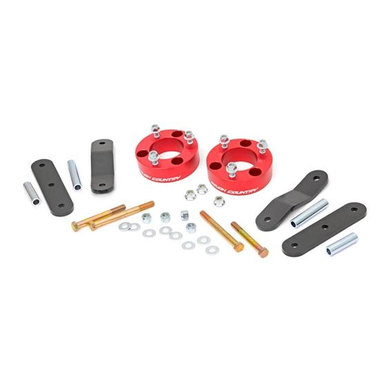 2.5 Inch Nissan Suspension Lift Kit Red 05-19 Frontier/Xterra Rough Country 1