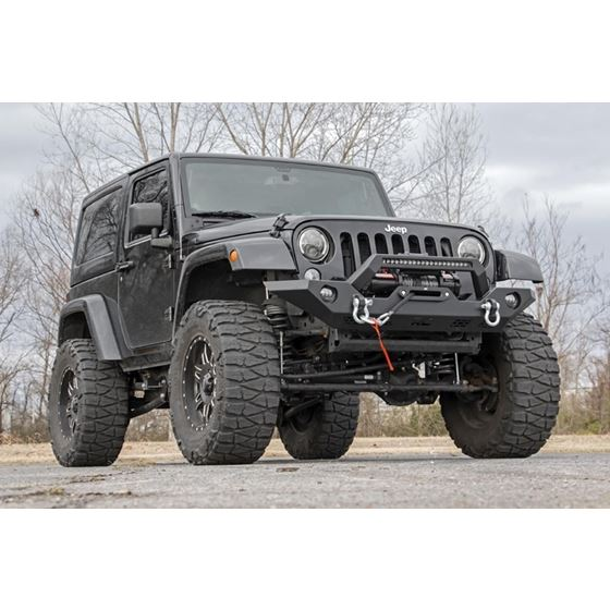 Jeep Full Width Front LED Winch Bumper JK JL Gladiator JT 1
