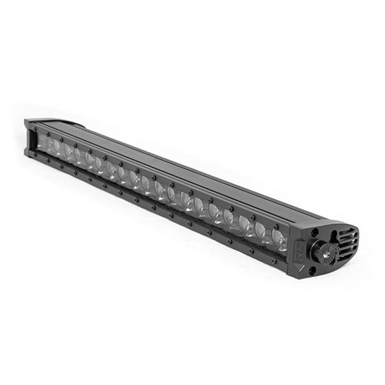 20 Inch CREE LED Light Bar Single Row Black Series wCool White DRL 1