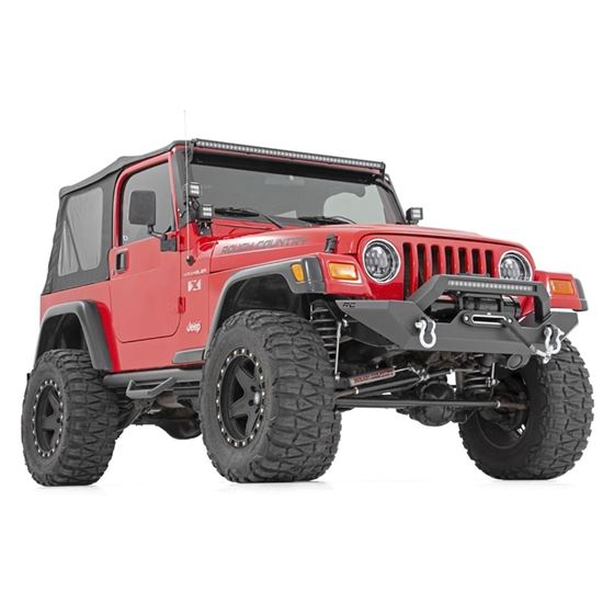 Jeep Full Width Front LED Winch Bumper 8706 Wrangler YJTJ 3