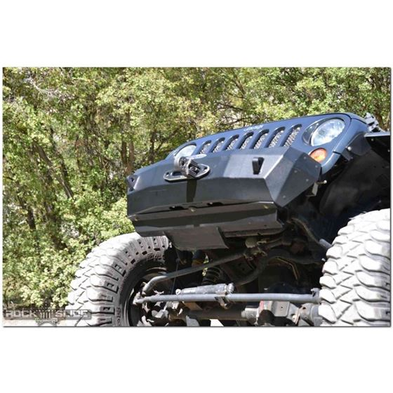 Jeep JK Front Bumper Skid Plate For 0718 Wranger JK Rigid Series Steel Powdercoat Black 1