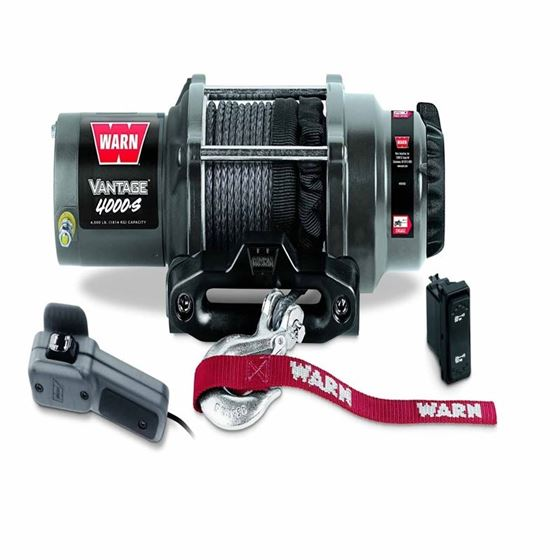 4000 Lb Cap 50 Ft Synthetic Rope Winch 1