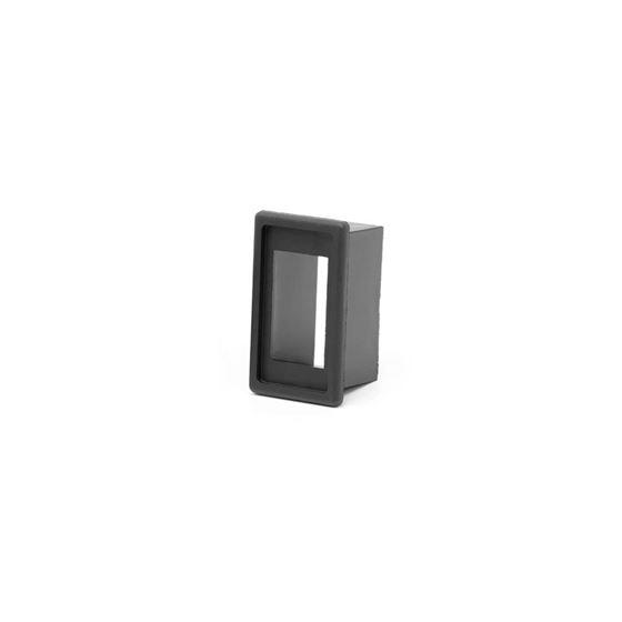 Single Rocker Switch Housing Black Plastic 1