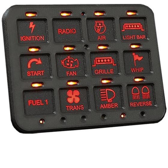 RCR-FORCE-12 | 12 SWITCH POWER PANEL SYSTEM