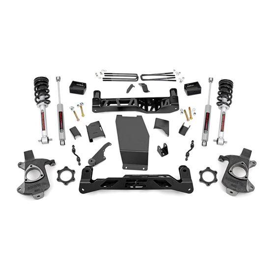 5 Inch Suspension Lift Kit wN3 Shocks and Struts 1418 SilveradoSierra 1500 4WD AluminumStamped Steel