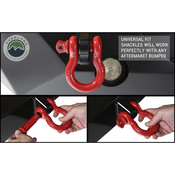 Recovery Shackle 34 475 Ton  Red 3