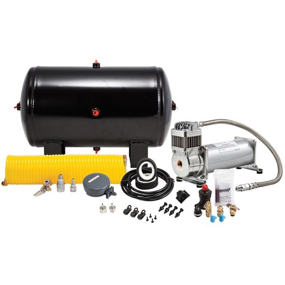 150 Psi Heavy Duty High Capacity Sealed Air System 12Volt Compessor With 5 Gal Tank And Hardware 1