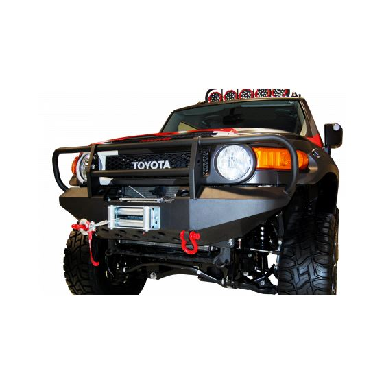 Toyota FJ Cruiser Front Winch Bumper w/ Brush Guard and D-Ring Mounts 1