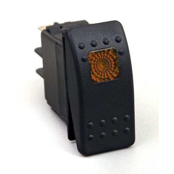 Rocker Switch Amber Light 20 AMP Single Pole 1
