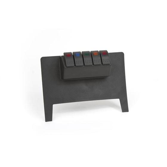 11-17 Jeep Wrangler JK Lower Switch Panel Automatic Trans Black 1