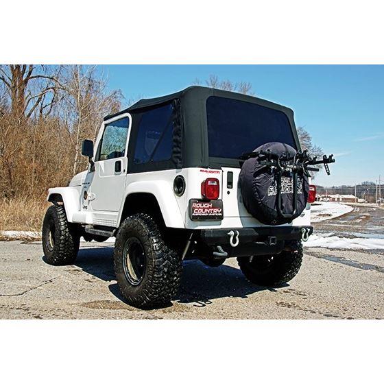 Jeep Replacement Soft Top Black 9706 TJ Wrangler Full Steel Doors 3